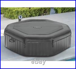 140 Bubble Jets 6-Person Octagonal Portable Inflatable Hot Tub Spa