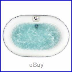 2 Person Oval Inflatable Hot Tub Spa Jacuzzi Bubble Massage Bath Pool and Cover