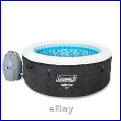 2 to 4 Person Inflatable Hot Tub Spa with Pump Heated Filter Cover Portable Round