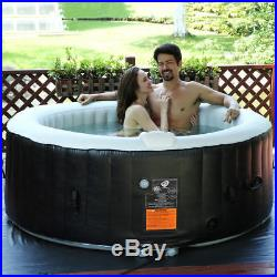4 Person Black Portable Outdoor Blow up Inflatable Air Bubble Spa Hot Tub Cover