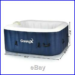 4-Person Inflatable Portable Outdoor Hot Tub Bubble Massage Spa Leisure Relaxing