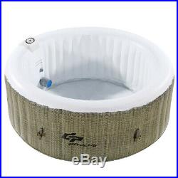 4-Person Jacuzzi Inflatable Bubble Hot Tub Massage Spa Outdoor Portable Heated