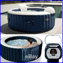4 Person Spa Hot Tub Inflatable Portable Bubble Massage Durable Jacuzzi Outdoor