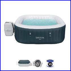 6 Person Inflatable Hot Tub Coleman Saluspa Spa Jacuuzi with Cover +Repair Patch