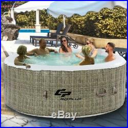 6 Person Inflatable Hot Tub Outdoor Massage Spa OP3465