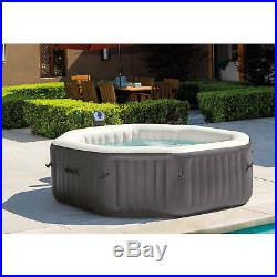 6 Person Inflatable Spa Jacuzzi 140 Bubble Jets Water Treatment Hot Tub Massage