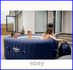 6-Person Portable Inflatable Spa Hot Tub Bundled with Attachable Cup Holder