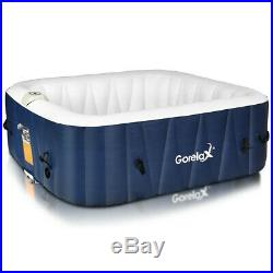 6 Person Portable Inflatable Spa Hot Tub Outdoor Massage Jacuzzi Leisure Cover