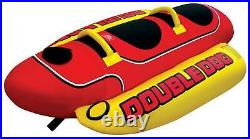 AIRHEAD Hot Dog Double Rider Towable Inflatable Boat Tube 1-2 Person (Open Box)