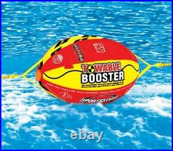 AIRHEAD Hot Dog Towable Inflatable 3 Person Tube & 4K Booster Ball Towing System