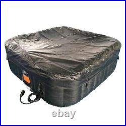 ALEKO 6 Person Portable Inflatable Hot Tub Home Spa Indoor Outdoor 73x73 x26 in