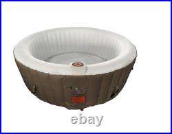ALEKO HTIR4BRW Round Inflatable Hot Tub Spa With Cover 4 Person 210 Gallon