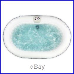 ALEKO Oval Inflatable Hot Tub Personal Spa With Drink Tray 2 Person 120 Gallon