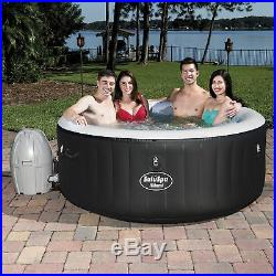 Bestway 54124 SaluSpa 4-Person Round Inflatable Portable Hot Tub Spa with Pump