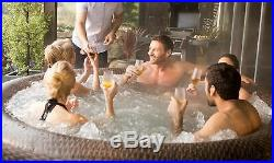 Bestway St Moritz Rattan Lay Z Spa Hot Tub Airjet Inflatable Jacuzzi 5-7 Person