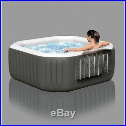 Bubble jet spa 120 Jet 4 Person Octagonal Portable Inflatable Hot Tub spa Cover