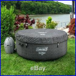 Coleman 4 Person Portable Outdoor Hot Tub Spa. With Remote & Control Panel