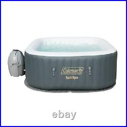 Coleman SaluSpa 4 Person Inflatable Outdoor AirJet Spa Hot Tub, Gray (For Parts)
