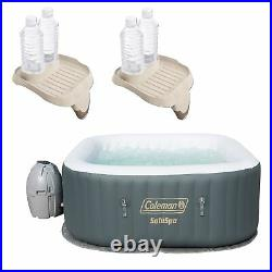 Coleman SaluSpa 4 Person Portable Inflatable Hot Tub with Cup Holder (2 Pack)