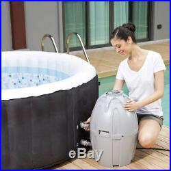 Coleman SaluSpa 4 Person Portable Inflatable Outdoor Spa Hot Tub with Chemical Kit