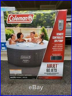 Coleman SaluSpa 4 Person Round Portable Inflatable Outdoor Hot Tub Spa 71 x 26