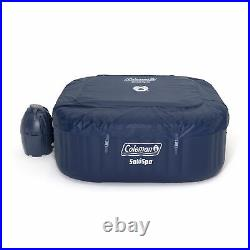 Coleman SaluSpa 4 Person Square Portable Inflatable Hot Tub Spa, Blue(For Parts)