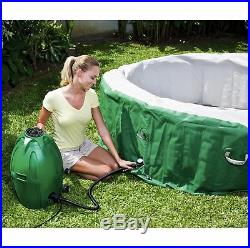 Coleman SaluSpa 6 Person Inflatable Outdoor Spa Hot Tub and Chlorine Starter Kit