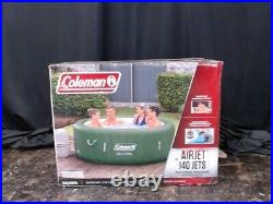 Coleman SaluSpa 6 Person Portable Inflatable Outdoor Hot Tub Spa Green New