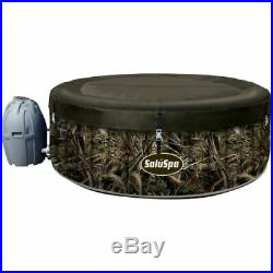 Coleman Saluspa 7 Person Inflatable Hot Tub & Pump with Cover Camo Print