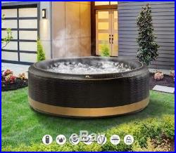 EXOTIC Family Inflatable Hot Tub Portable Spa Jacuzzi 4/6 Person Home Holiday