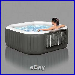 Inflatable Hot Tub Intex Spa Jacuzzi Portable 4-Person Octagonal Relax Massage