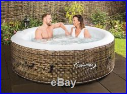 Inflatable Hot Tub Jacuzzi Pool Spa 4 Persons Garden Indoors Outdoors Relax