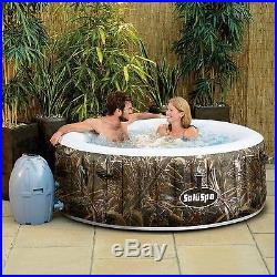 Inflatable Hot Tub Jacuzzi Spa Air Jet 4 Person Portable Heated Bubble Massage