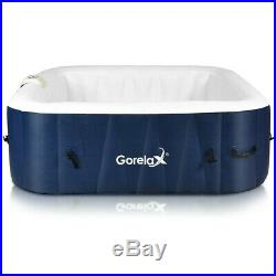 Inflatable Hot Tub Outdoor Jacuzzi Portable Spa 4 Person Hottub Massage Pool New