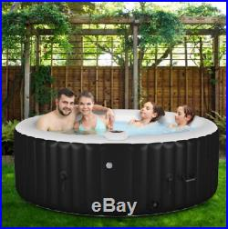 Inflatable Hot Tub Portable Jacuzzi Spa Massage Tubs 4 Person Outdoor Backyard