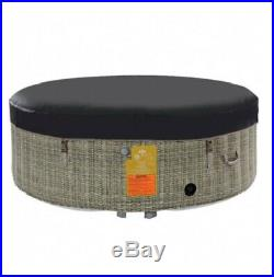 Inflatable Hot Tub Round 6-Person Massage Spa Portable Outdoor Indoor Patio