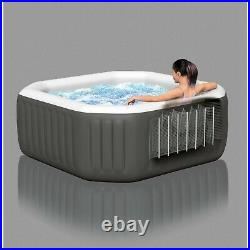 Inflatable Hot Tub Spa 4-Person Portable 120 Bubble Powerful Jets Octagonal NEW
