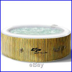 Inflatable Hot Tub With Cover 6 Person Portable Outdoor Spa Massage Jets Heated