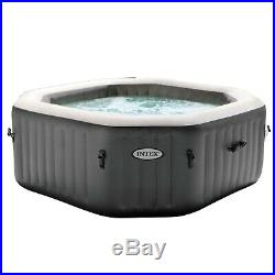 Intex 120 Bubble Jets 4-Person Octagonal Inflatable Hot Tub Spa FREE SHIPPING