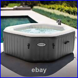 Intex 120 Bubble Jets 4-Person Octagonal Portable Inflatable Hot Tub Spa NEW