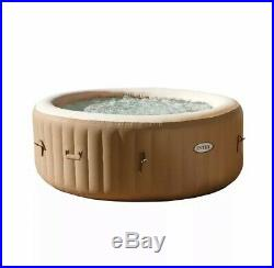 Intex 120 Bubble Jets 4-Person Round Portable Inflatable Hot Tub Spa Free Ship