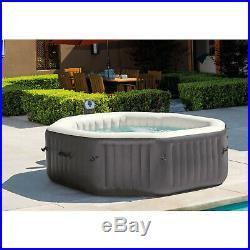 Intex 140 Bubble Jets 6-Person Portable Inflatable Hot Tub Spa Hard Water System