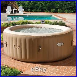 Intex 28403E Pure Spa 4 Person Inflatable Hot Tub With Headrest And Cup Holder