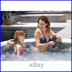 Intex 6 Person Portable Inflatable Hot Tub with Inflatable Removable Seat (2 Pack)