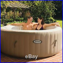 Intex PureSpa 4-Person Inflatable Hot Tub (2 Pack) & S1 Filters (12 Filters)