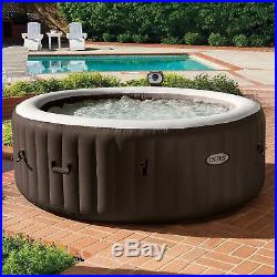 Intex PureSpa 4 Person Inflatable Jet Spa Hot Tub + 29001E S1 Filters (6 Pack)