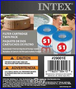 Intex PureSpa 4 Person Inflatable Spa Portable Hot Tub with Filters & Accessories