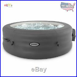 Intex PureSpa 77 4 Person Inflatable Round Hot Tub Spa with Filter & Cover New