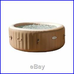 Intex PureSpa 77 Inch 4 Person Inflatable Hot Tub Spa with Headrest & Cover