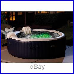 Intex PureSpa Plus 6 Person Inflatable Hot Tub Bubble Jet Spa, Navy (For Parts)